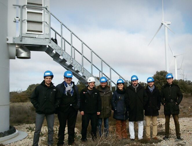 Technical visit to the El Gijo Wind Farm in Soria (SP). 20th January 2016