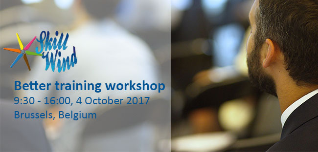 SKILLWIND Better training workshop 4 October